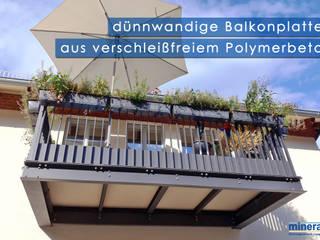 moderne Terrassenplatten und Balkon Bodenbeläge: modern  von Mineralit - Mineralgusswerk Laage GmbH,Modern