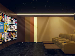 Home Cinema Room in Dubai:  Media room by Custom Controls