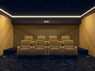 Cinema Room in Dubai Custom Controls Modern media room