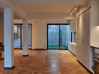 Remodelación Casa Ascencio de Zavala Cocinas de estilo moderno de LEON CAMPINO ARQUITECTURA SPA Moderno