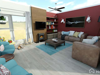House VD Walt Renovation:  Living room by Room 2 Room Design,