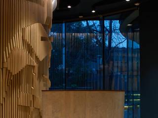 Oficina: Estudios y biblioteca de estilo  por LEON CAMPINO ARQUITECTURA SPA