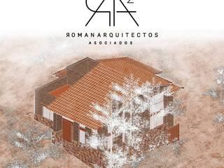 VILLA SUSTENTABLE STA. ISABEL: Casas de estilo  por R & A2. ARQUITECTOS SUSTENTABLES