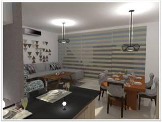 Proyecto Original, los cambios durante el proceso le dan un giro diferente y se torna sencillo pero amable.:  de estilo  por Spazio Diseño de Interiores & Arquitectura