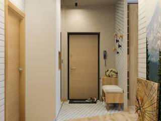 Проект 3-х комнатной квартиры: Коридор и прихожая в . Автор – Дизайн Студия 33