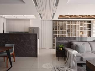 四象限 層層室內裝修設計有限公司 现代客厅設計點子、靈感 & 圖片