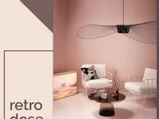 Atom Interiors ห้องนั่งเล่น Pink