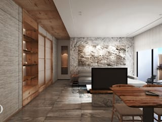 ห้องนั่งเล่น โดย 芮晟設計事務所, โมเดิร์น