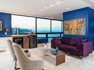 Apartamento Av. Beira Mar: Salas de estar  por RI Arquitetura