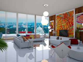 Modern Living Room Design by Estate Lookup Interiors