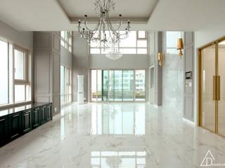 호텔같은 복층 펜트하우스 인테리어: 디자인 아버의  거실,클래식