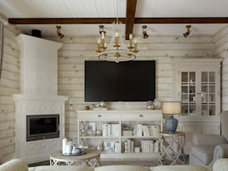 Country style living room by Defacto studio Country