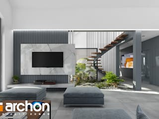 Modern living room by ARCHON+ PROJEKTY DOMÓW Modern