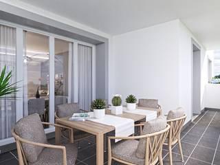 Trezzano Green Village Balcone, Veranda & Terrazza in stile moderno di Gentile Architetto Moderno