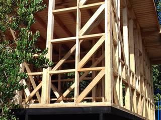 Casa ecológica en el sur de Chile : Paredes de estilo  por Baam Arquitectura