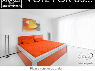 Design et al award Luis Design BedroomBeds & headboards Marble