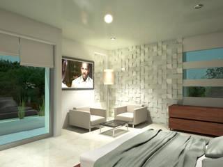 Residencia Marquesa Animas Xalapa Veracruz Dormitorios minimalistas de CouturierStudio Minimalista