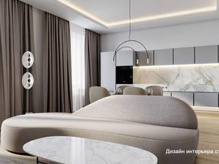 """Проект дизайна интерьера """"Легкая классика"""" от Suite n.7: Гостиная в . Автор – Suiten7"""