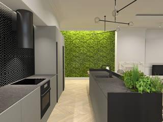 Apartament, Warszawa od IN studio projektowania wnętrz Nowoczesny