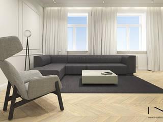 Apartament, Warszawa Eklektyczny salon od IN studio projektowania wnętrz Eklektyczny