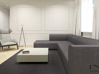 Apartament, Warszawa Nowoczesny salon od IN studio projektowania wnętrz Nowoczesny