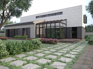 Проект загородного дома в Ленинградской области от Suite n.7: Дома с террасами в . Автор – Suiten7