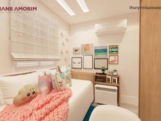 Dormitório menina por Viviane Amorim Arquitetura & Interiores Moderno