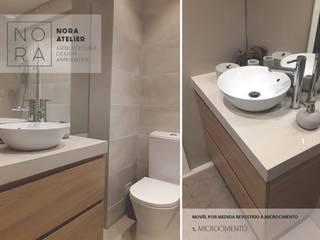 WC Casas de banho minimalistas por Nora Atelier Minimalista