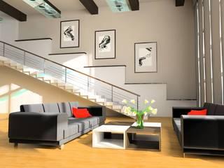 Centro de Mantenimiento Integral a Residencias e Inmuebles: Salas de estilo moderno por Painter´s oaxaca