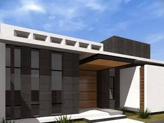 Residencia 0718: Casas de estilo  por URITA arquitectos,