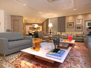 Apartamento Praia de Iracema: Salas de estar  por RI Arquitetura