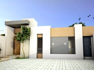 Residencia RR: Casas de estilo  por Osuna Arquitecto