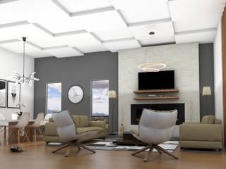 Salones de estilo  de Osuna Arquitecto, Moderno