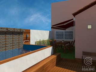 Modern balcony, veranda & terrace by Estudio Equilibrio Modern