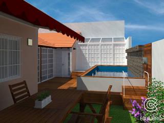 Балкон и терраса в стиле модерн от Estudio Equilibrio Модерн