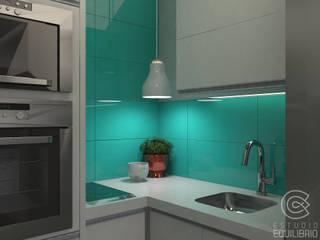 Proyecto Monoambiente Quirno - Cocina de Estudio Equilibrio Minimalista Vidrio