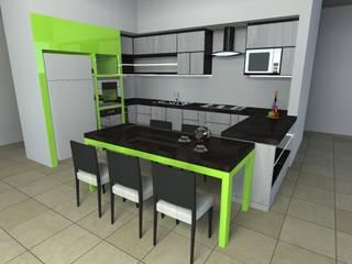 MAQUETAS VIRTUALES / ANTEPROYECTOS: Cocinas equipadas de estilo  por EL DIVÁN Arquitectura & Diseño de Interiores