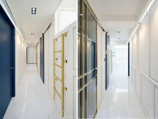 골드 컨셉, 인천 만수동 상가주택 인테리어: 디자인 아버의  복도 & 현관,에클레틱 (Eclectic)