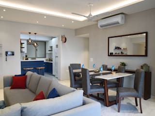 Apartment at Tata Primanti, Gurugram Modern dining room by The Workroom Modern