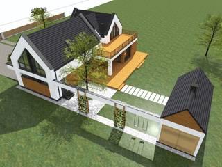 Dom zagrodowy w Rakowni od Fiord-Architekci Nowoczesny