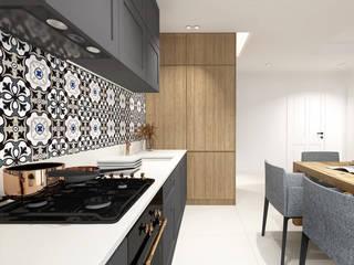 Projekt mieszkania, Gdańsk: styl , w kategorii Kuchnia na wymiar zaprojektowany przez IN studio projektowania wnętrz