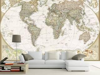 DUVAR GİYDİR – Dekoratif Dünya Haritası Duvar Kağıdı Modeli:  tarz