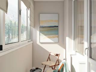 Квартира 66 кв.м. в стиле эклектика в ЖК Успенский: Tерраса в . Автор – Студия архитектуры и дизайна Дарьи Ельниковой
