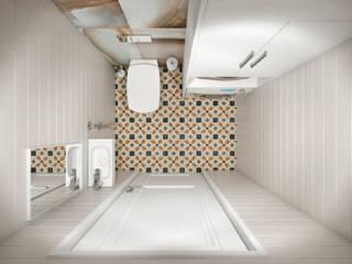 Квартира 66 кв.м. в стиле эклектика в ЖК Успенский: Ванные комнаты в . Автор – Студия архитектуры и дизайна Дарьи Ельниковой