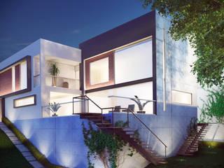 """Casa Residencial """"Haras"""". Fachadas de Casas.: Casas unifamiliares de estilo  por Soy Arquitectura"""