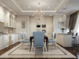 Dining room by EJ Studio, Classic