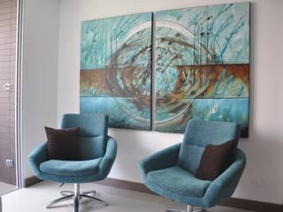 Salones de estilo moderno de Natalia Mesa design studio Moderno