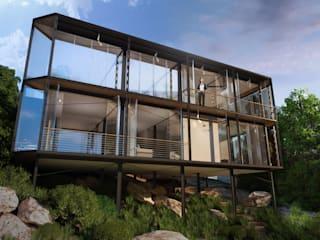 HouseZero - Modular building systems for premium off-grid homes: modern Houses by HouseZero