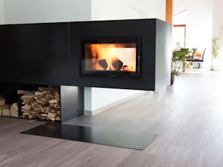 kiimoto kamine Living roomFireplaces & accessories Iron/Steel Black