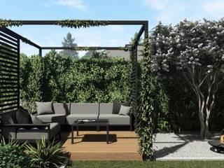 Projekt małego ogrodu w stylu nowoczesnym, Gdynia Wzgórze Bernadowo: styl , w kategorii Ogród zaprojektowany przez STTYK - Pracownia Architektury Wnętrz i Krajobrazu,Nowoczesny